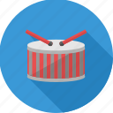 drum, instrument, music, musical, node, sound icon