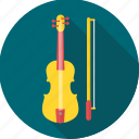 instrument, music, musical, sound, viola, violin icon