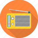 antenna, music, radio, sound icon