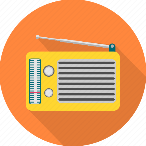 antenna, music, radio, sound icon