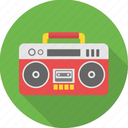 music, song, sound, tape recorder, taperecorder icon