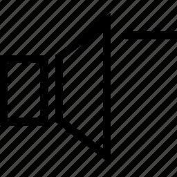 low, music, sound, voice, volume icon