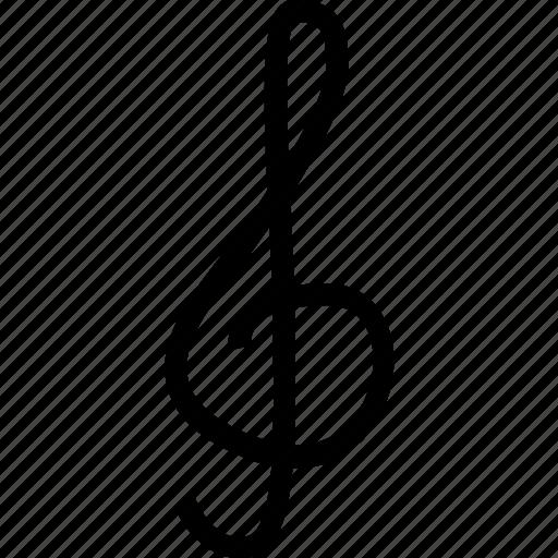 key, music, score, sol icon