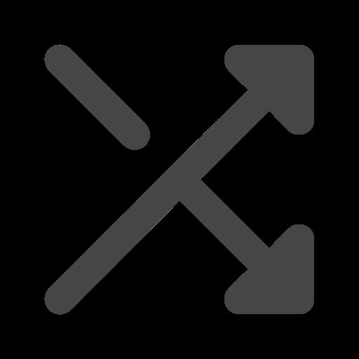 arrow, mix, random, shuffle icon