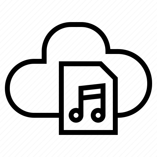 audio, cloud, media, music, online, song, sound icon