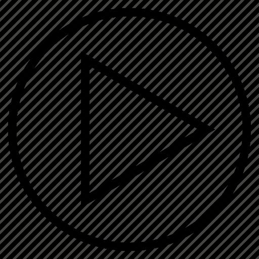 arrow, audio, media, music, play, song, sound icon
