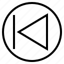 arrow, audio, backward, music, previous, song, sound icon