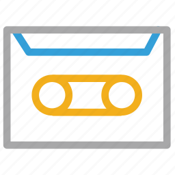 audio cassette, audiotape, cassette, tape icon