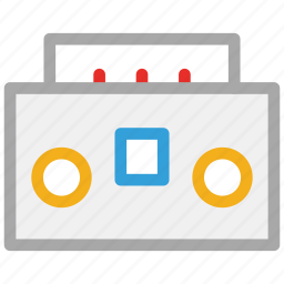 audiotape, boombox, music, stereo icon
