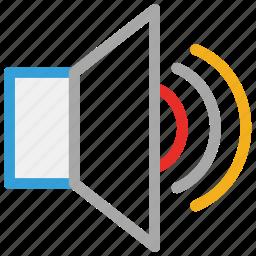 loud, music, speaker, volume icon