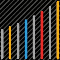 graph, level, signals, status, volume icon