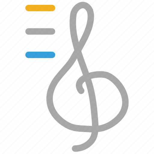 clef, musical sign, note, treble icon