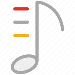 eighth note, musical sign, musical symbol, note icon