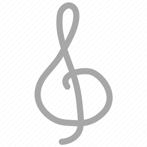 clef, g clef note, musical note, musical sign icon
