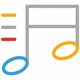 double bar note, music, musical note, note icon