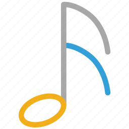 eighth note, music, music note, musical sign icon