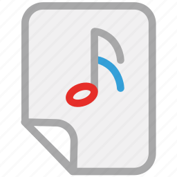 music file, music folder, playlist, songs list icon