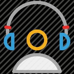 earphone, headphone, headset, listing icon