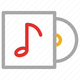 music cd, musical cd, songs cd, songs collection icon