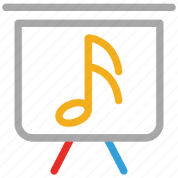 display, music, musical sign, screen icon