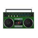 boombox, green icon