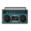 boombox, turquoise icon