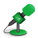 foam, green, mic icon