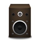 brown, speaker icon
