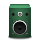 green, speaker icon