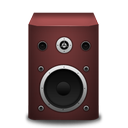 red, speaker icon