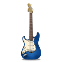 blue, guitar, stratocastor icon