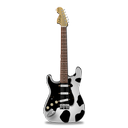 cow, guitar, stratocastor icon