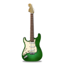 green, guitar, stratocastor icon