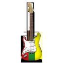 guitar, reggae, stratocastor icon