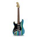 guitar, stratocastor, stripes icon