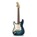 guitar, stratocastor, turquoise icon
