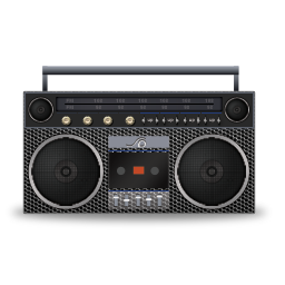 boombox, metallicholes icon