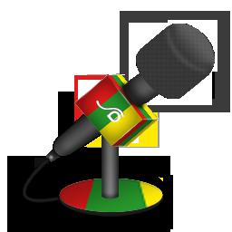 foam, mic, reggae icon