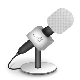 foam, mic, white icon