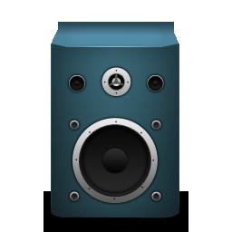 blue, speaker icon