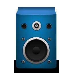 brightblue, speaker icon