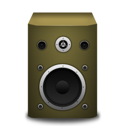 orange, speaker icon