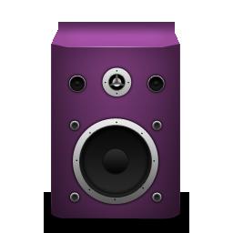pink, speaker icon