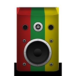 reggae, speaker icon