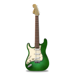 green, guitar, stratocastor icon