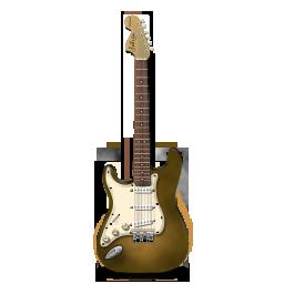 bright, guitar, orange, stratocastor icon