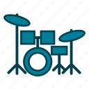 drum kit, drum set, drums, instruments, musical instruments, percussion, rhythm icon