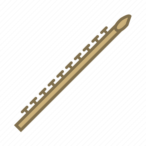 flute, instruments, music, musical instruments, song, wind instrument, woodwind icon