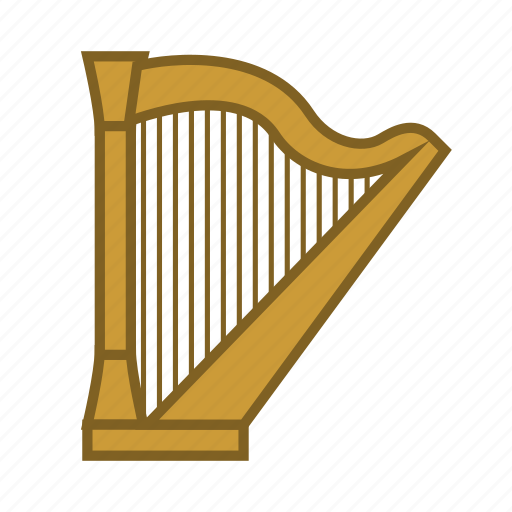 classical music, harp, instruments, music, musical instrument, song, strings icon