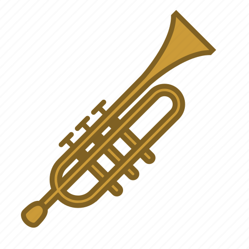 instruments, music, musical instruments, song, trumpet, wind instrument, woodwind icon